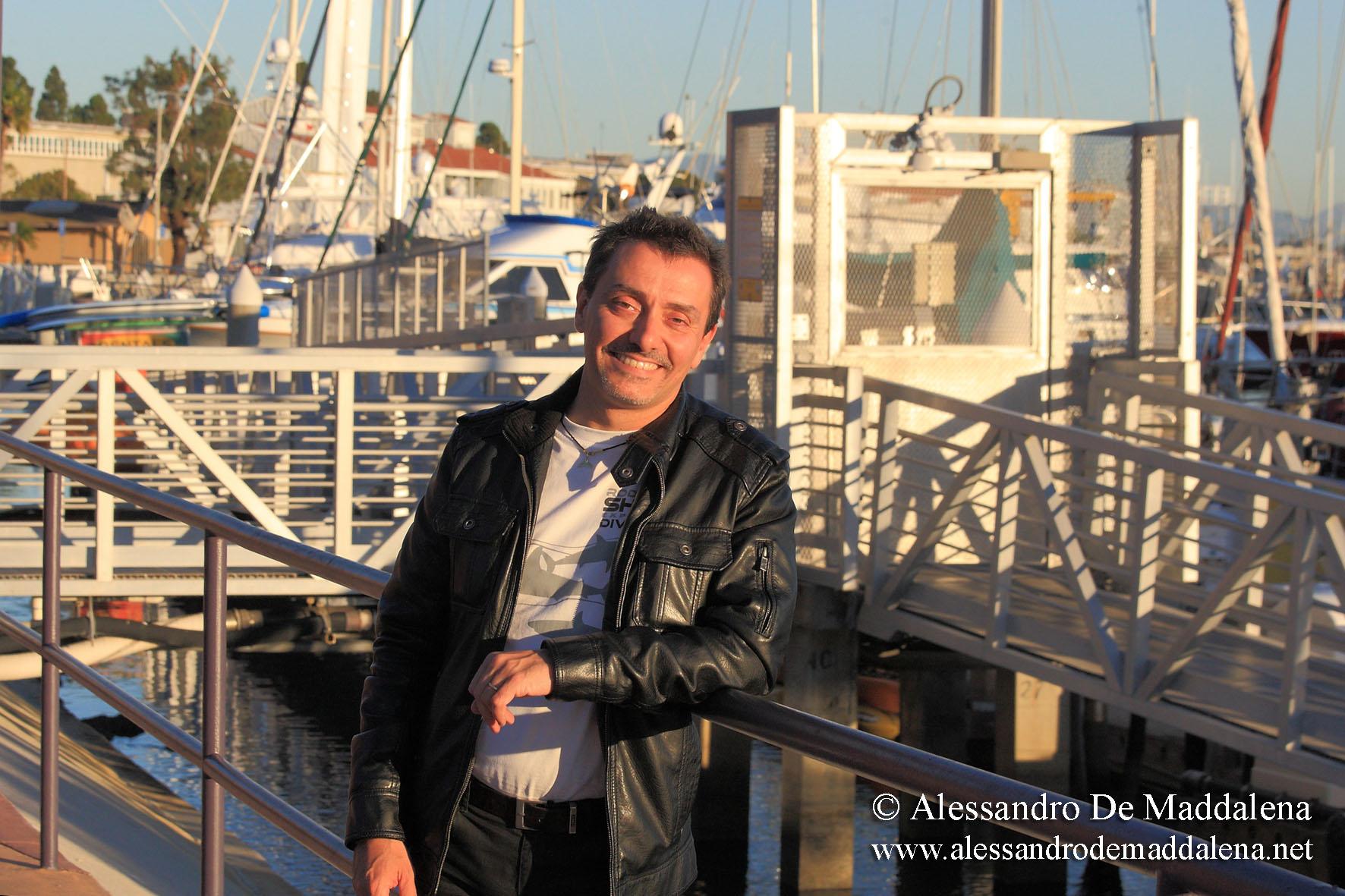 shark specialist Alessandro De Maddalena in San Diego, Californi